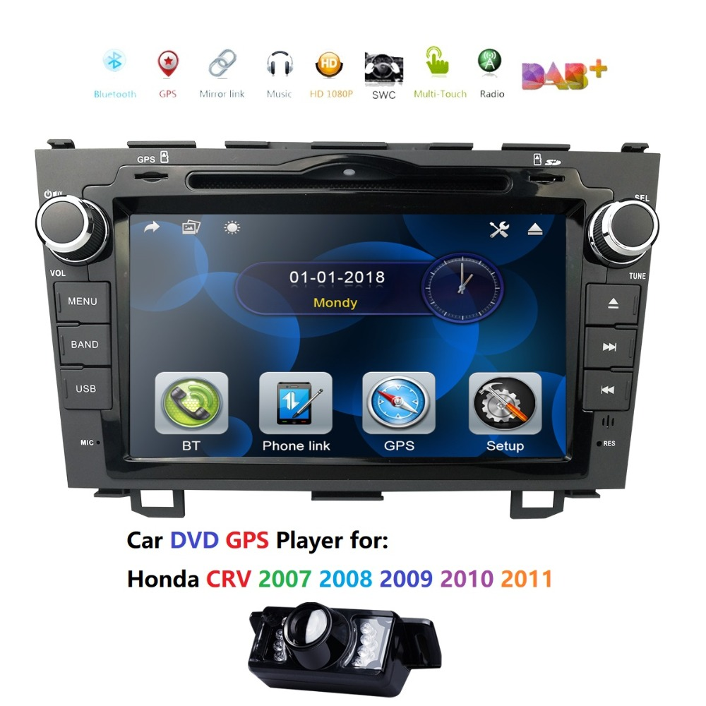 8 Car Stereo DVD Player Radio for HONDA CRV 2007 2011 GPS Navigation RDS USB SD