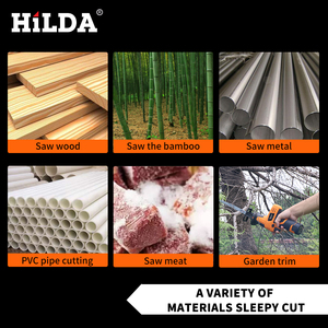 Image 4 - HILDA 12V Cordless Reciprocating Saw Wood Cutting Saw Electric Saws With Saw Blades Woodworking Cutter