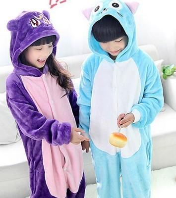Copii Pijamale Copii Animale Onesie Pijamale Pijamale Pisică violet - Costume carnaval
