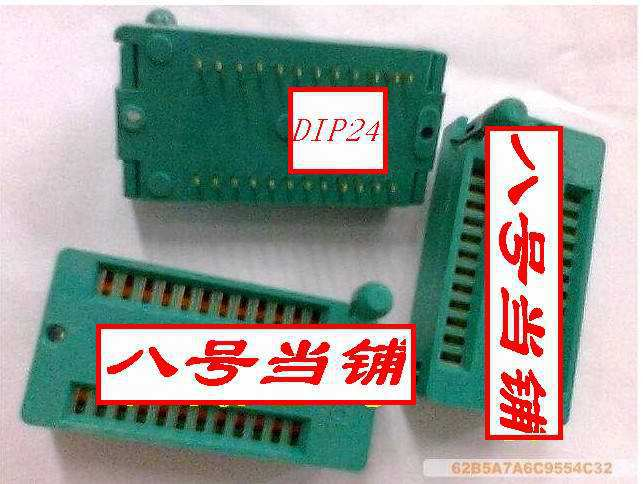 Free Shipping    Programmer IC Test Socket Japanese Original Gold Lock Base 224-1275-00/DIP24P Pin