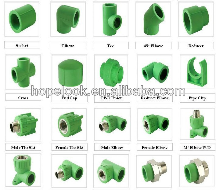High Quality Cold and Hot water supplying ppr plastic pipe pipe fittings types-in Pipe Fittings from Home Improvement on Aliexpress.com | Alibaba Group  sc 1 st  AliExpress.com & High Quality Cold and Hot water supplying ppr plastic pipe pipe ...