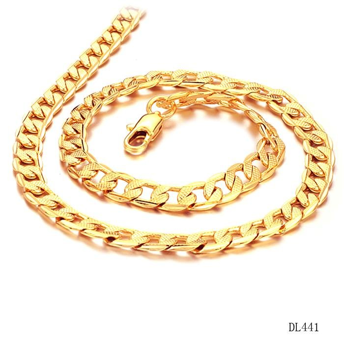 Fate love new collection men classial style gold color necklace fate love new collection men classial style gold color necklace classic thick chain 7mm width man punk party jewelry gift fl441 in chain necklaces from mozeypictures