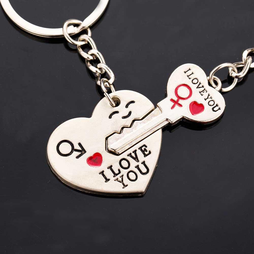 Новинка 2016 г.; ходовые товары папа я тебя люблю в форме сердца брелок для ключей Любовник Кольцо Романтический Творческий подарок на день ро... ...