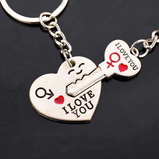2016 New Hot Dad I love you heart-shaped keychain key chain key ring lover ring