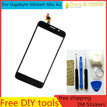 Free DIY Tool+3M Stickers+100%Original New for Gigabyte GSmart Alto A2 Touch Screen  Glass Capacitive sensor screen Screen Black
