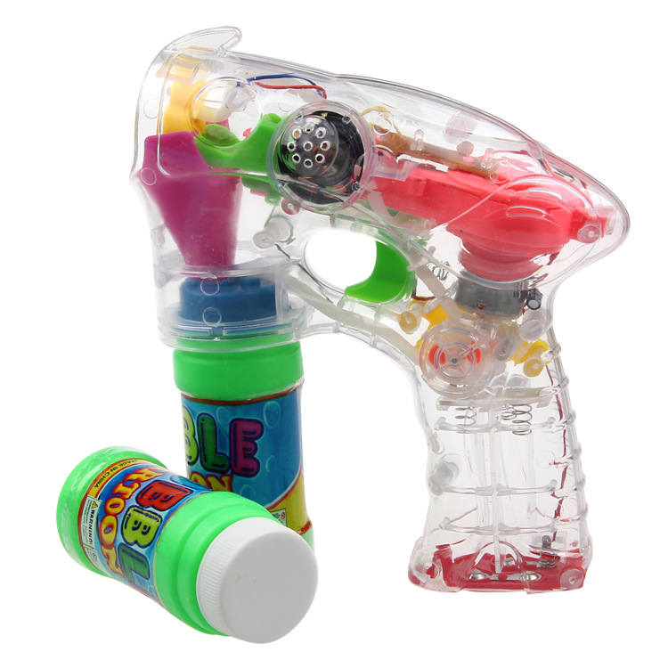 Electric Bubble Gun Toy Fully-automatic Cartoon Bubble Water Gun Music Bubble Machine Bubble