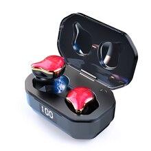 G01 Auricolari 6D Surround Bluetooth 5.0 Auricolare Senza Fili di Tocco di Controllo TWS Auricolari Auricolari Senza Fili con 700mAh Caricatore Bin