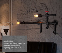 Американский Винтаж промышленных настенный светильник проход Бар Ресторан Обеденная ретро украшения E27 лампы База edison настенный светильни
