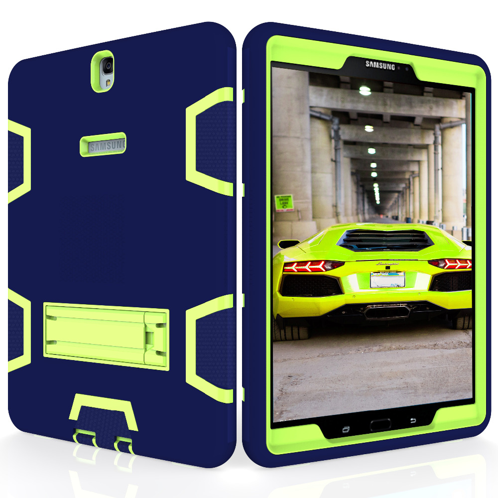 AXBETY For samsung galaxy tab s3 9.7Case Full Protection Stand Heavy Duty Silicone Hard Cover For Samsung Galaxy Tab S3 T825 dazzle heavy duty impact hybrid armor kickstand hard case for samsung galaxy tab a a6 t580 t580 t585 10 1 with stand function