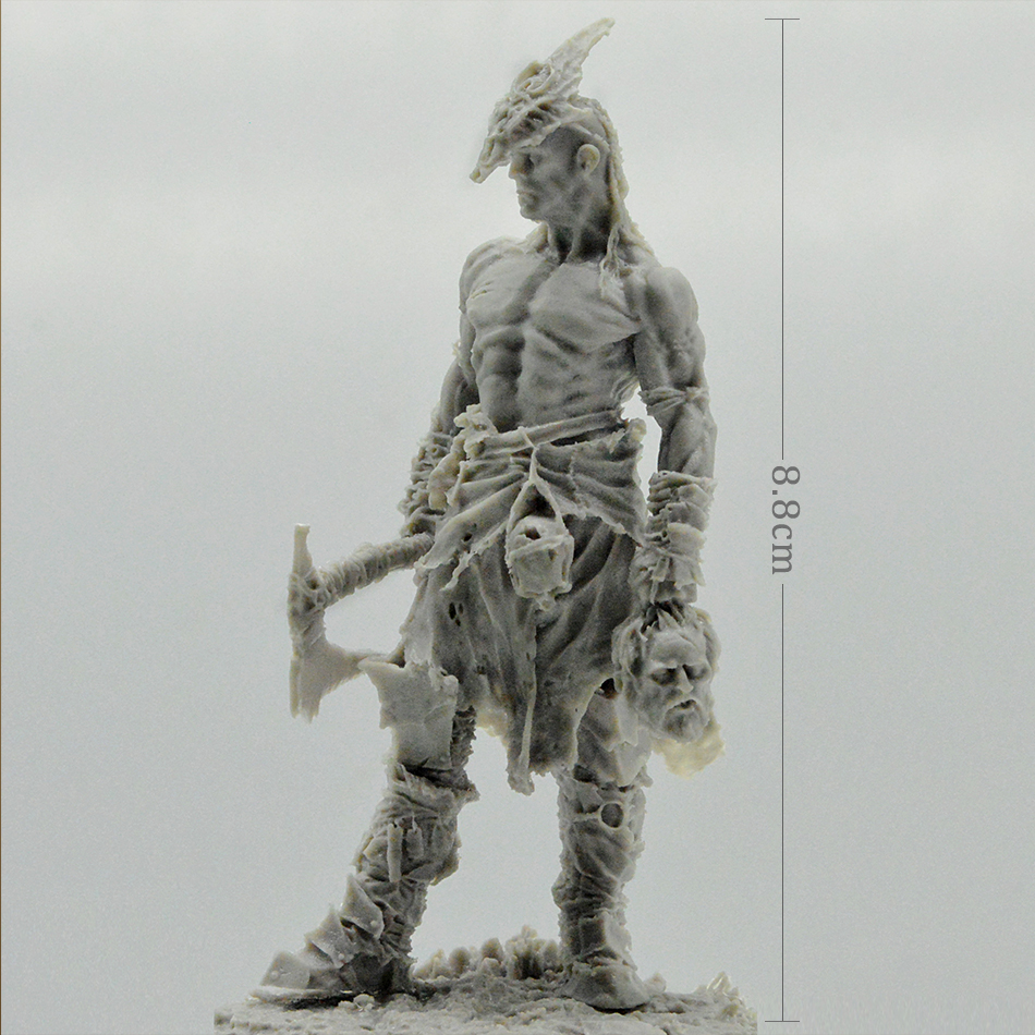 Resin Model Kit Figure About 8.8CM  The King Of Roza Unassambled Unpainted
