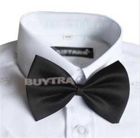 1 adet çocuk ayarlanabilir aksesuarları sevimli çocuk Boys papyon düz renk ilmek düğün için güzel kravat çocuk
