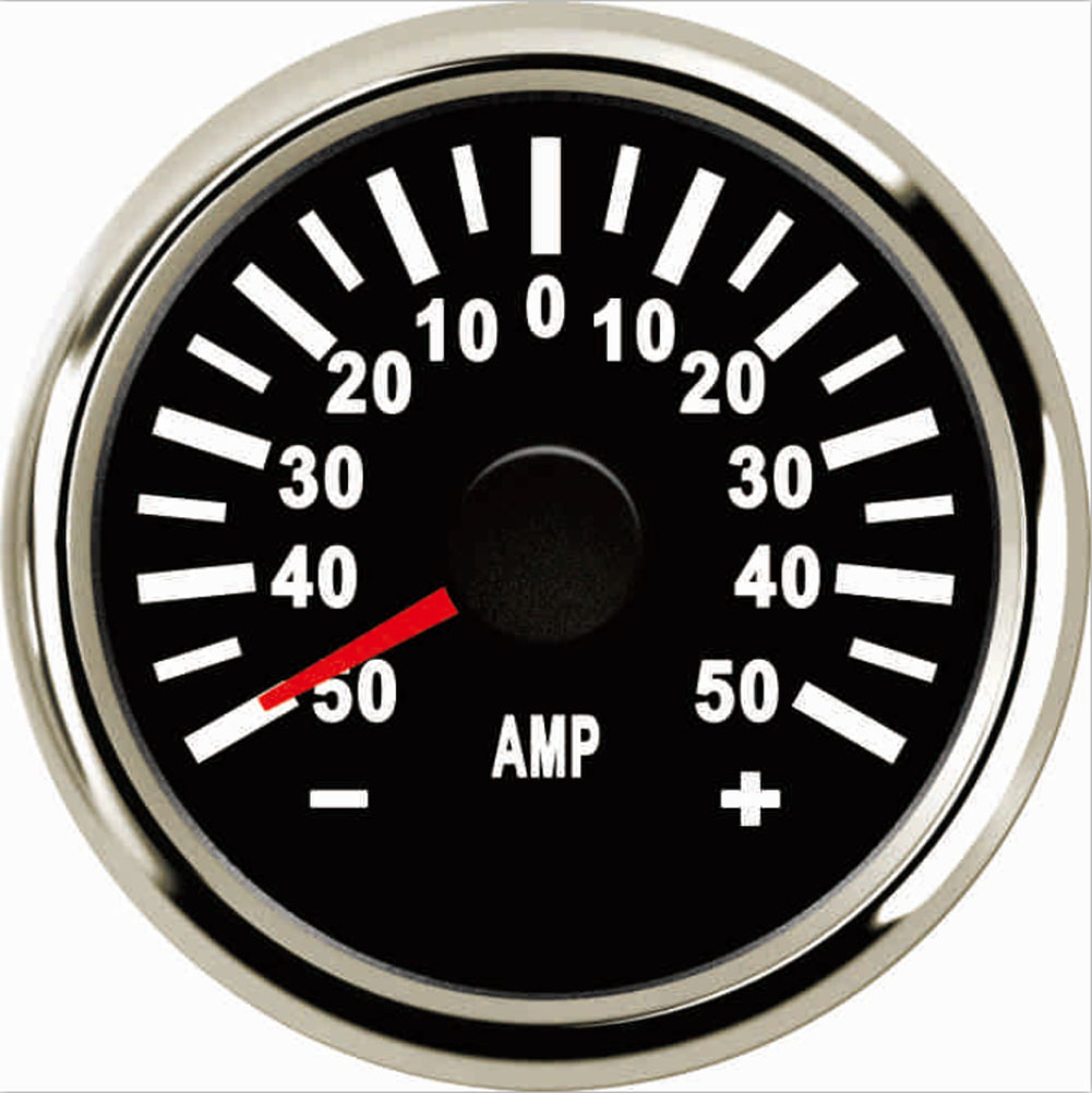 "Samdo 52MM Waterproof Ampere Gauge Ammeter AMP Meter 50A  2""  With Current Sensor-in Instruments from Automobiles & Motorcycles    1"