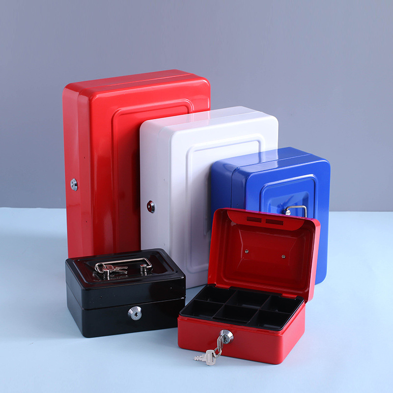 Mini Portable Security Safe Box Money Jewelry Storage Collection Box For Home School Office With Compartment Tray Lockable все цены