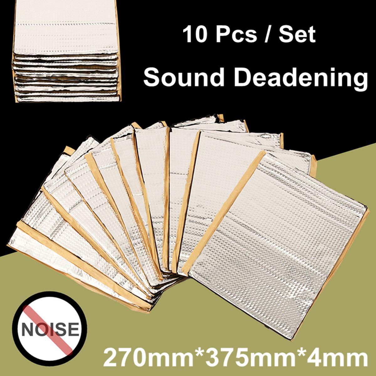10 pièces 4mm Automobiles voiture insonorisant Vibration insonorisation tapis amortissement chaleur bruit bouclier isolation Deadener 270x375mm
