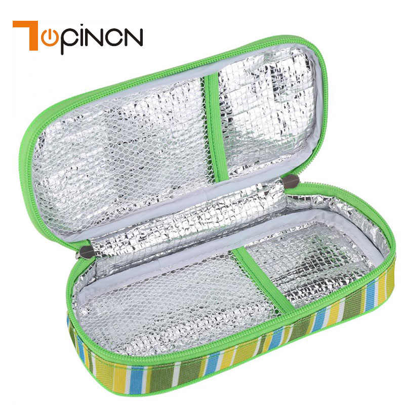 Portable Medical Coolers Insulin Cooler Bag Portable Insulated Diabetic Insulin Travel Case Cooler Box Aluminum Foil Ice Cooling