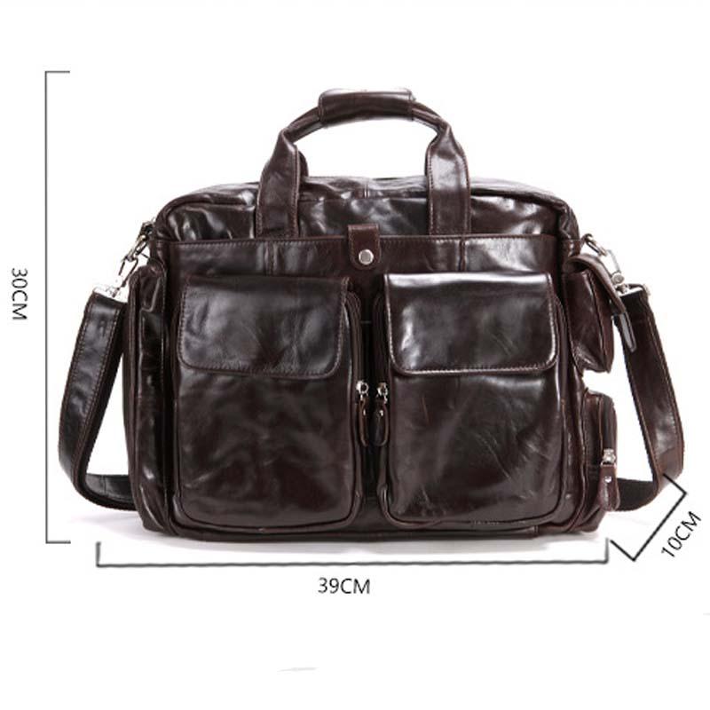 AETOO el nuevo bolso vintage de cuero genuino de los hombres bolso retro crazy horse marrón mensajero bolso de viaje de ocio hombres - 6