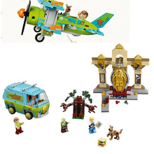 Bela 10430 Scooby Doo Mystery Plane Adventures Mummy Museum Mysterious Building Block Kids toys Compatible with Legoed Kids Gift