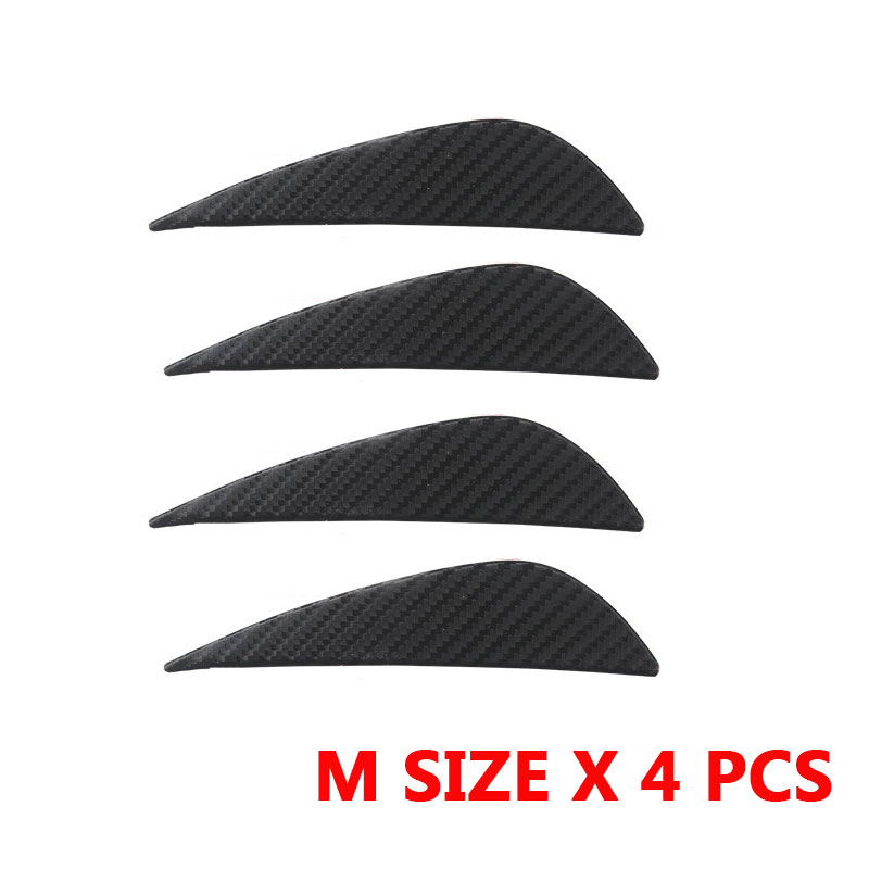 RASTP Car Styling Carbon Fiber Universal Car Bumper Spoiler Small Wing Blade Car Decoration Sticker 4 Pieces RS3 LKT019 in Styling Mouldings from Automobiles Motorcycles