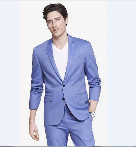 Brand New Style Latest Coat Pant Designs Groomsmen Groom Navy Bule