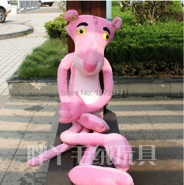 120cm Pink Panthers Stuffed Plush Toy, Baby Kids Doll Gift Free Shipping stuffed animal 90 cm plush dolphin toy doll pink or blue colour great gift free shipping w166