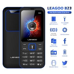 Image 2 - LEAGOO B23 Funktion Handy Senior Kinder Mini Telefon Russische Tastatur 2G GSM Push Taste Schlüssel Handy