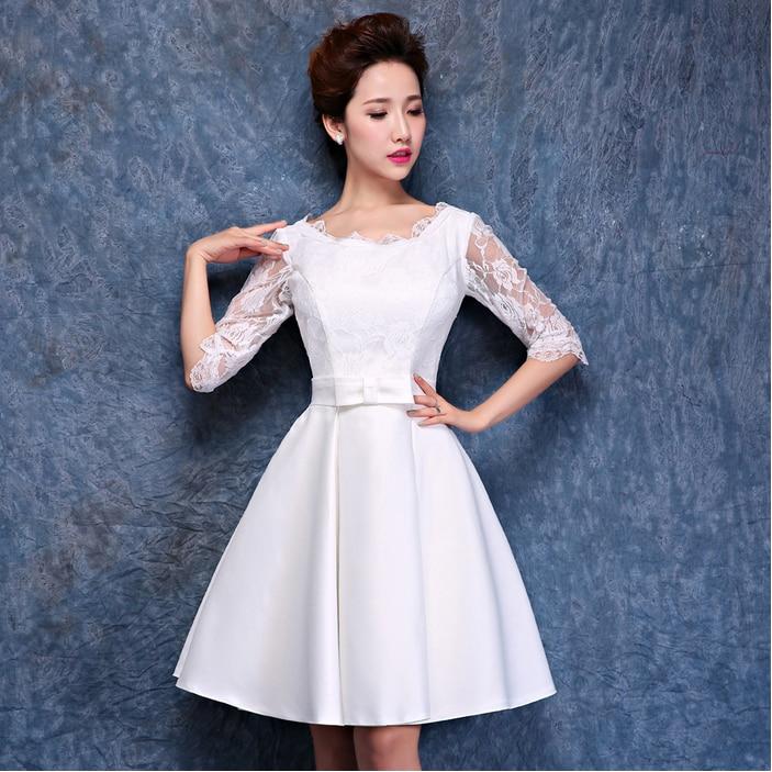 elegant oriental semi formal fashion short sweet 16 white ...