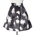 Vintage Женщин Высокой Талией Лето Цветочный Принт Плиссированные-Лайн Skater Mini Skirt Новые Наряды 8 Цвета