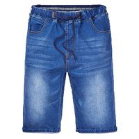M 7XL Big Size Summer Casual Elastic Band Shorts Thin Section Youth Classic Denim Man Shorts