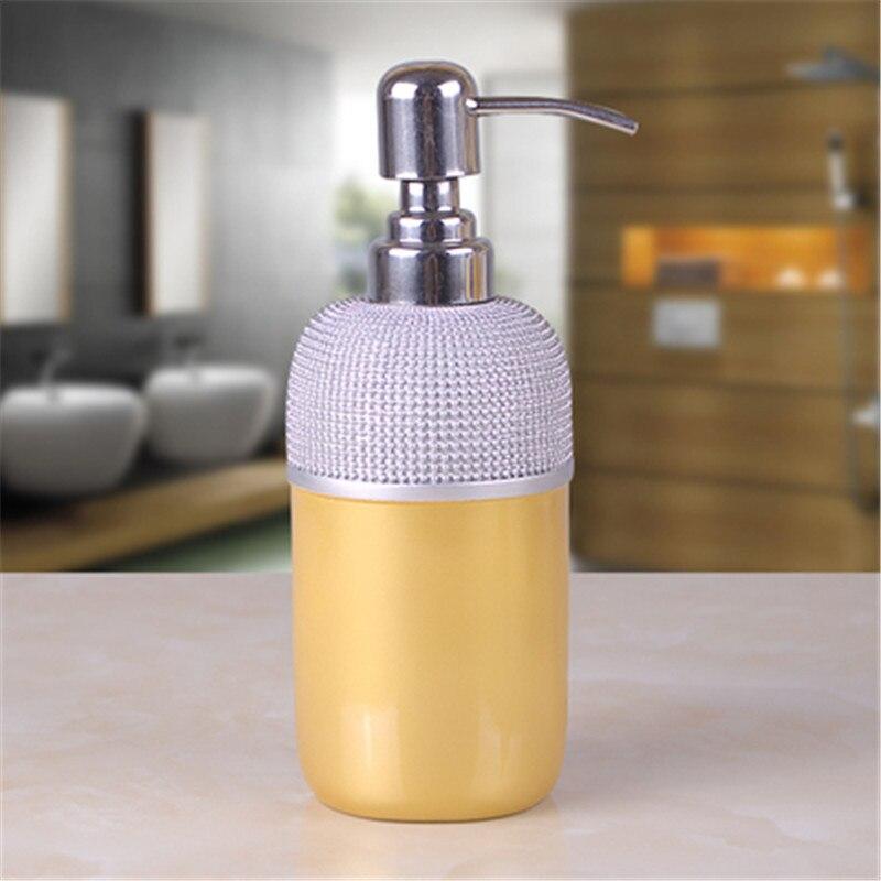 Red Rose Flower Bathroom Resin Hand Pump Liquid Soap Dispenser Kitchen Luxury Grain Continental Garden 350ml In Storage Bottles Jars