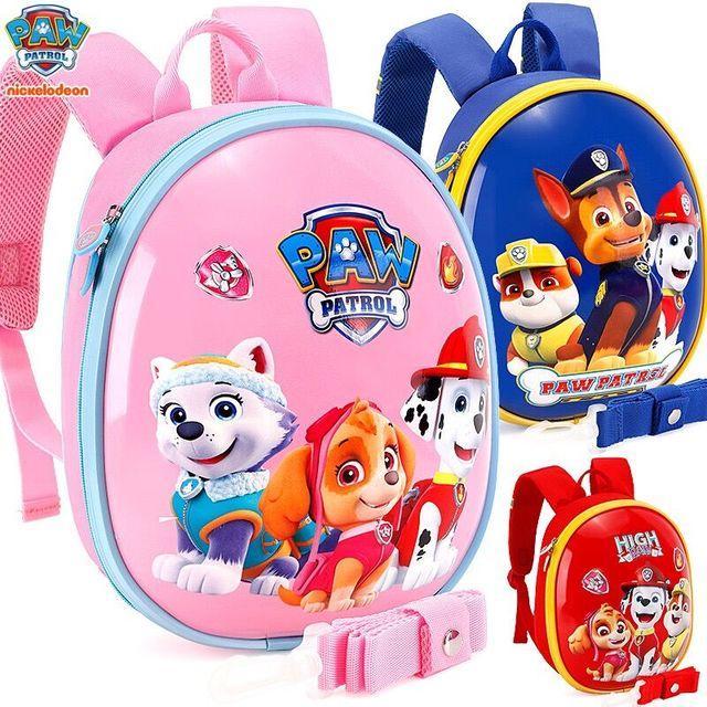 2019 New Genuine PAW PATROL Kindergarten SCHOOL EVA bag Baby ANTI-LOST Toy children's backpack doll kids toy for age 3-6 years