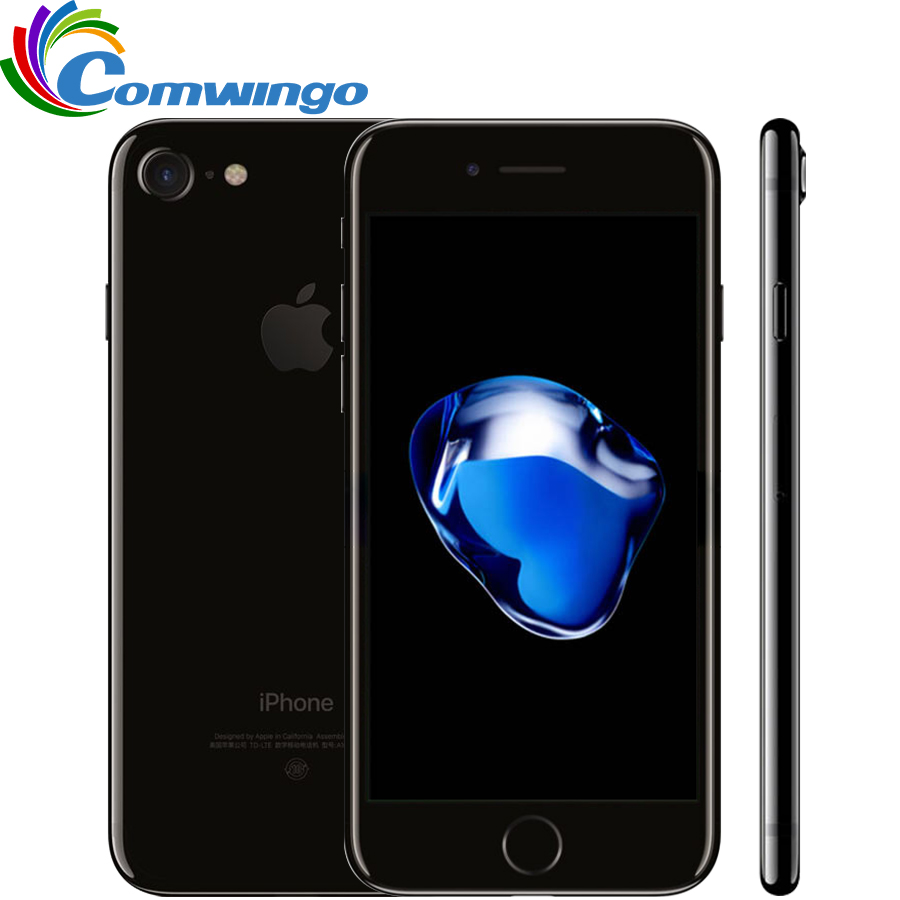 Original desbloqueado apple iphone 7 2 GB RAM 32/128 GB/256 GB ROM IOS 10 quad- core 4G LTE 12.0mp iPhone 7 Apple fingerprint Touch id
