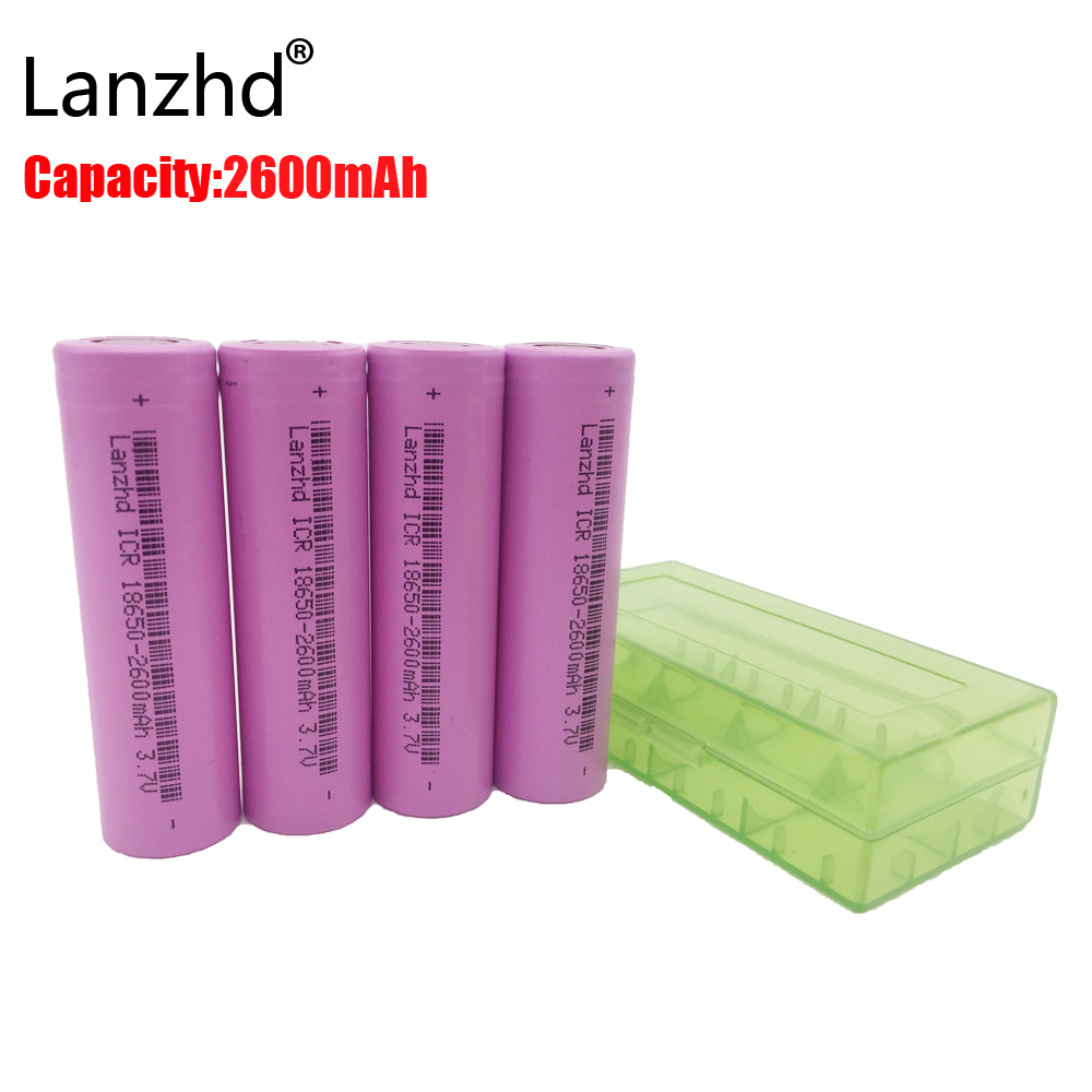 Rechargeable batteries 18650 Battery Original 18650 Rechargeable Battery 2600mAh Li-ion 3.7v battery for flashlight 4PCS/lot new original kyocera fuser 302fv93041 fk 110 e for fs 1016 1116