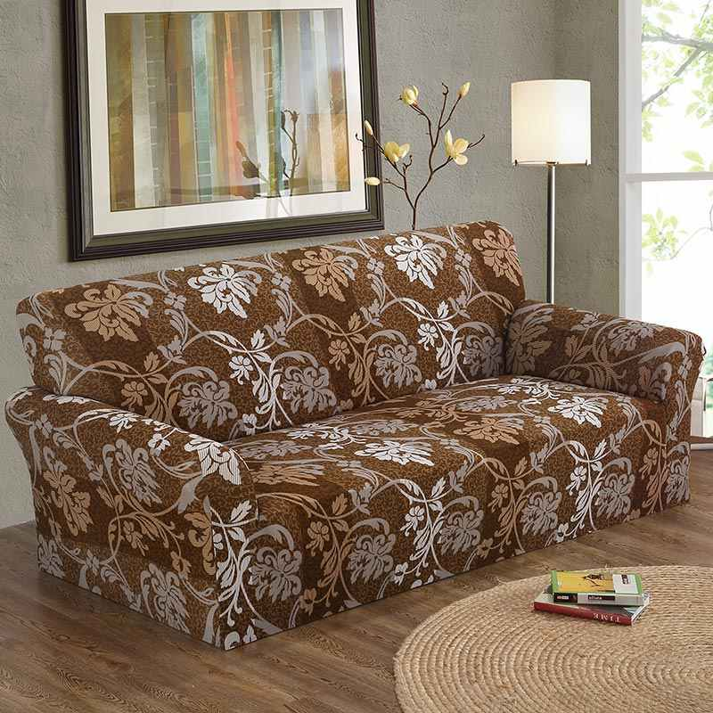 1PC Elastic Cubierta Sofa 1/2/3/4-Seat Sofa Cover Floral Printing Flower Pattern Stretch Wrap Sofa Cover Sofa Furniture Covers