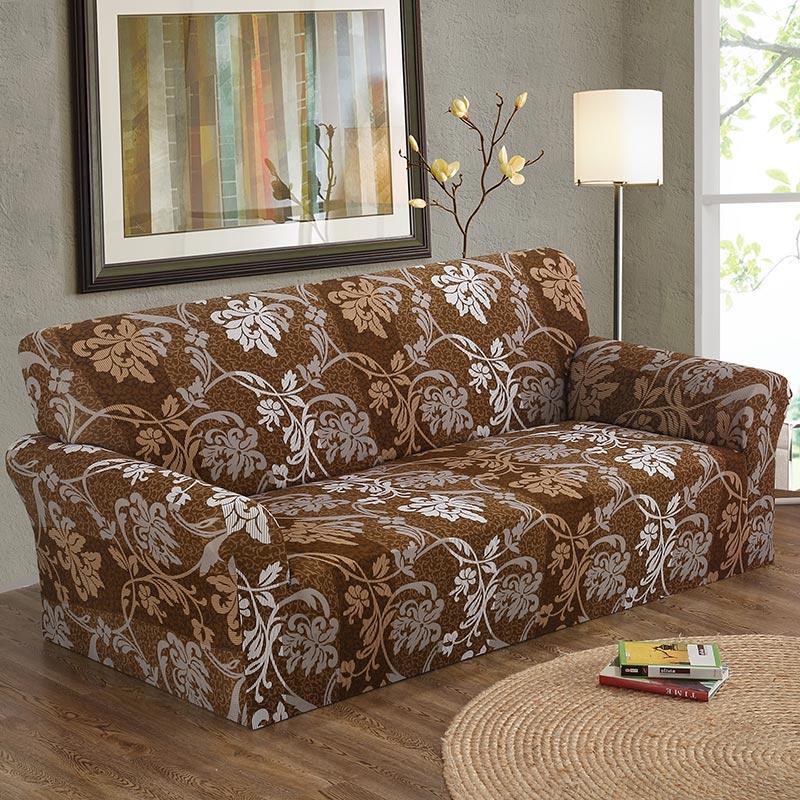 1PC elastīgs Cubierta dīvāns 1/2/3/4-sēdeklis dīvāns Cover ziedu apdruka ziedu rakstu stiept wrap dīvāns Cover dīvāns mēbeles vāki