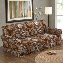 1 STÜCK Elastische Cubierta Sofa 1/2/3/4-Seat Sofa Blumen Druck Blumenmuster Stretch Wrap Sofa Abdecken Sofa Möbel Abdeckungen