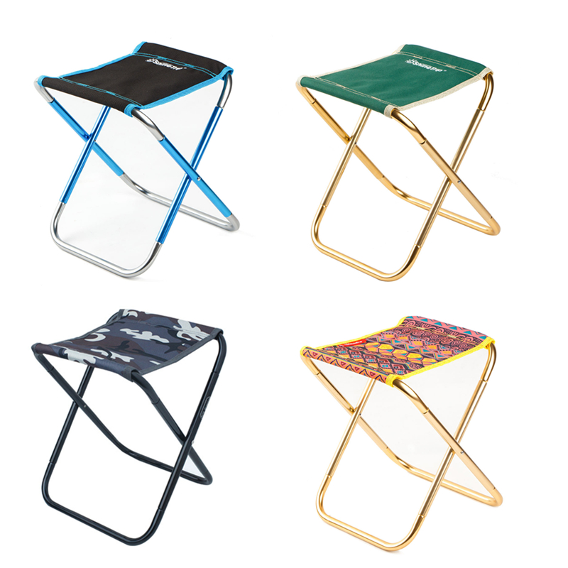 Image 3 - VILEAD 4 Colors Portable Camping Stools Ultralight Folding Chair Aluminium Outdoor Picnic Beach BBQ Fishing Foldable 25*22*27cm-in Camping Stools from Sports & Entertainment