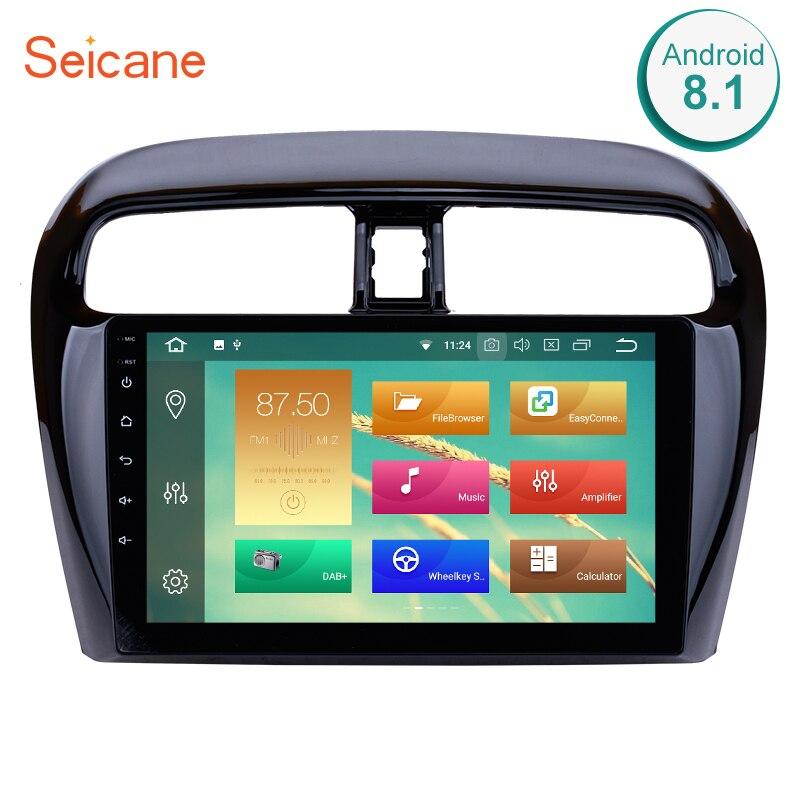 Seicane 9 pouce Quad-core/8-Core Android 8.1/8.0 Voiture Radio Pour 2012-2018 mitsubishi Mirage GPS Multimédia Lecteur Soutien DVR 4g