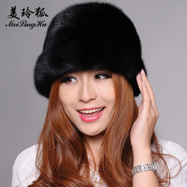 Women Mink Fur Hat Styles Female Fur Cap with Mink Fur Women Solid Winter  Headwear Girls Bomber Hats for Beanies 37f31bd6b5a