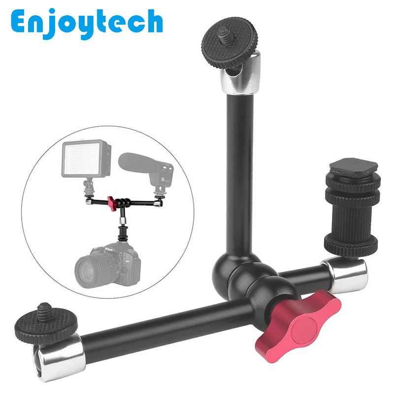 11 Inches Aluminum Alloy Magic Extention Arm Stands Bracket with Hot Shoe Tripod with Ball Head for Canon Nikon Sony DSLR Camera in Tripods from Consumer Electronics