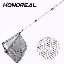 HONOREAL 95 см портативная рыболовная сеть алюминиевая телескопическая рукоять ультралегкий водонепроницаемый Nano PE рыболовная посадочная сеть