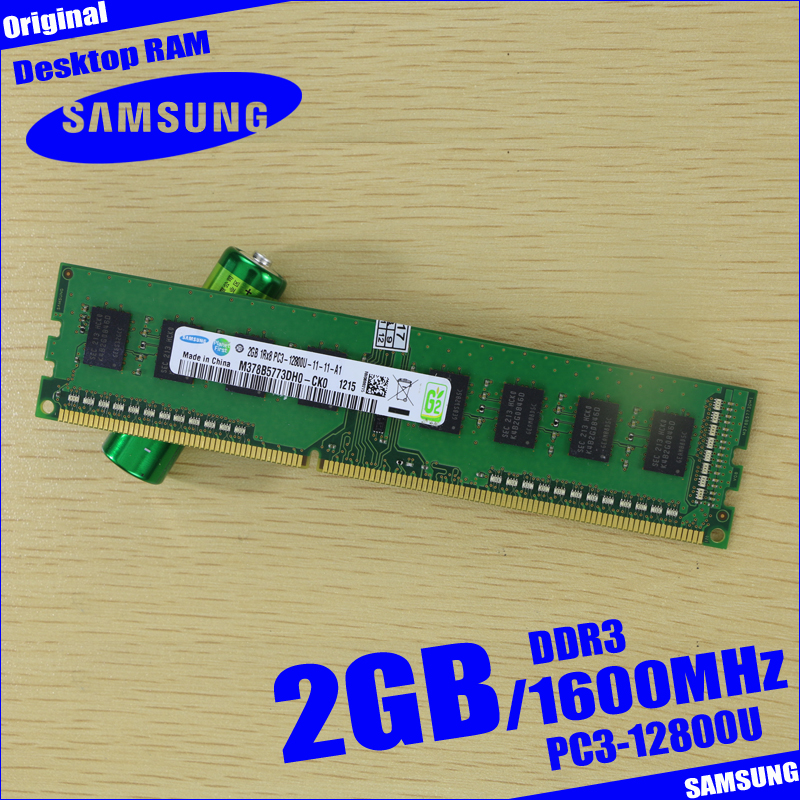 Samsung 2G 2GB DDR3 2RX8 PC3 12800U 1600MHZ PC Computer Desktop RAM Memory 1600 In RAMs From Office On