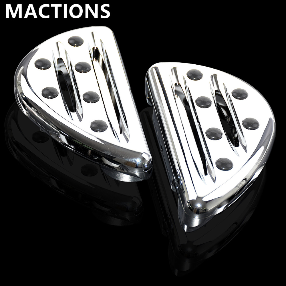 Motorcycle Accessories Chrome Passenger Floorboards Pedal Cast Rear Foot Pegs For Harley Touring FLH FLST FLD DynaMotorcycle Accessories Chrome Passenger Floorboards Pedal Cast Rear Foot Pegs For Harley Touring FLH FLST FLD Dyna