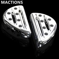 Motorcycle Accessories Chrome Passenger Floorboards Pedal Cast Rear Foot Pegs For Harley Touring FLH FLST FLD Dyna