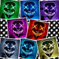 Halloween   Mask   LED Light Up   Party     Masks   The Purge Election Year Great Funny   Masks   Festival Cosplay Costume Supplies