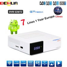 Hot GTC DVB-S2 DVB-C DVB-T2 ISDB-T combo Amlogic S905D android 6.0 TV BOX 2GB RAM 16GB ROM Wifi 2.4G+BT4 Satellite TV Receiver