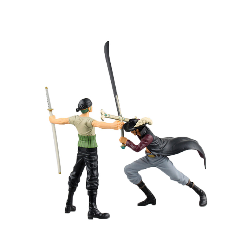 Chanycore Anime ONE PIECE DXF Dracule Mihawk VS Roronoa Zoro 1pcs/set Action Figures PVC onepiece toys doll model collection