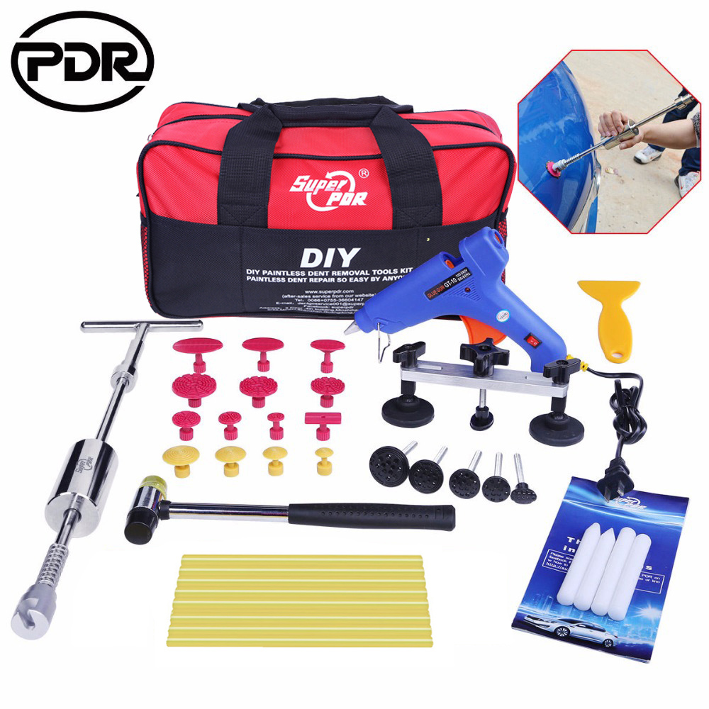 цена на PDR Tools Kit Paintless Dent Repair Tools Car Hail Damage Repair Tool Dent Puller Slide Hammer Suction Cups Hand Tool Sets