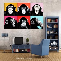 5 Pieces Set HD Printed Colorful Lion Painting On Canvas Room Decoration Wall Art Pictures For