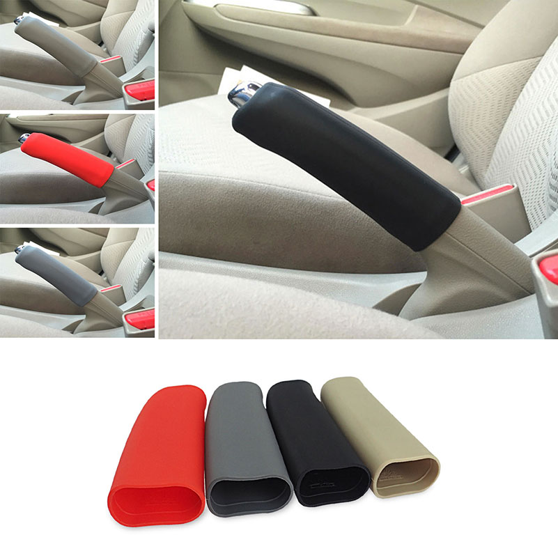 AUXITO Car Handbrake Cover Protector For VW Polo Golf 4 5 Jetta MK4 MK5 Passat B5 B6 Rabbit GTI EOS Scirocco Touran Bora Caddy beler car grey interior dome reading light lamp itd 947 105 fit for vw golf jetta mk4 bora 1999 2004 passat b5 1998 2005