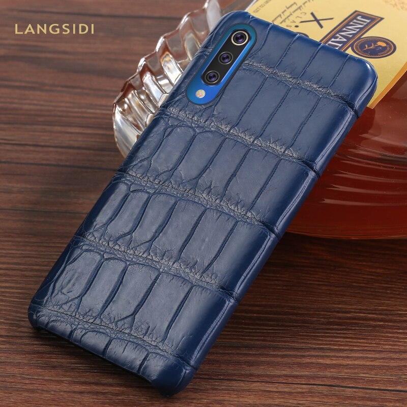 Étui en cuir de Crocodile naturel pour Xiao mi mi 9 8 SE Lite explorer Pocophone F1 housses pour rouge mi Note 7 couverture armure de luxe marvel